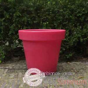 Pot De Fleur Rouge : pot fleur 60 cm rouge de bloom dans pots ronds sur ambiance jardin terrasses ~ Melissatoandfro.com Idées de Décoration