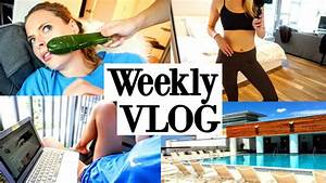 WHAT I ATE, WORKOUTS, ROOFTOP POOL, GROCERY HAUL | Weekly ...