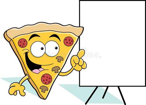 Cartoon Pizza Slice Pointing Stock Vector