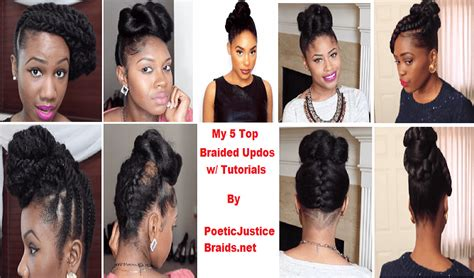 Braided Updo Hairstyles For Natural Black Women In 2015