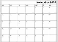 November 2018 Download Calendar