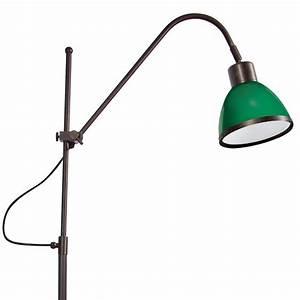Stehlampe Mit Glasschirm : funktionale messing stehleuchte als lese und arbeitsleuchte mit glasschirm ~ Markanthonyermac.com Haus und Dekorationen