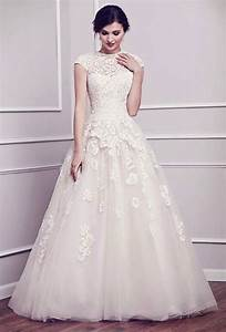 modest wedding dresses with pretty details modwedding With tznius wedding dresses