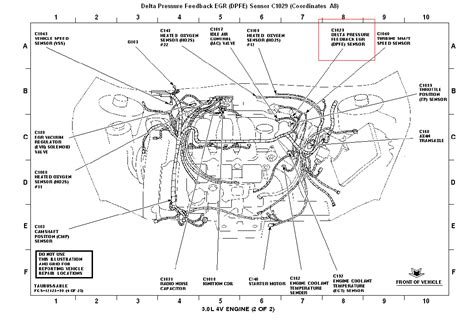 Where Is The Egr Valve Sensor Located On A '99 Mercury Sable?