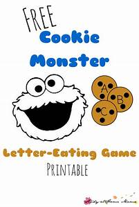 letter eating cookie monster printable game study at With cookie letters game