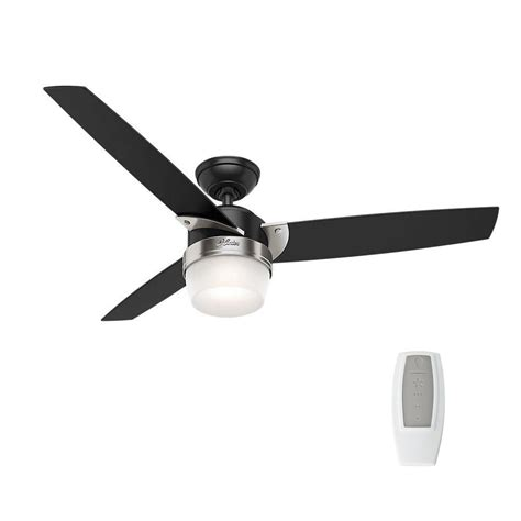 black ceiling fan with light hunter crandon park 52 in led indoor matte black ceiling