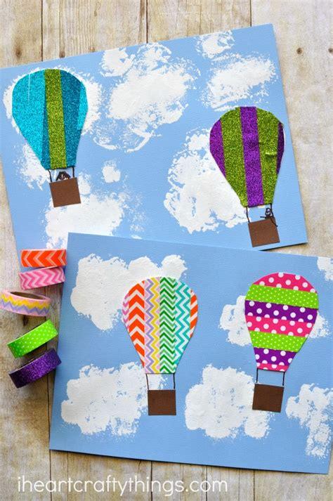 summer themed craft ideas washi air balloon craft i crafty things 5516