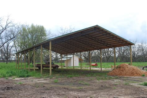 what is a pole shed open shelter and fully enclosed metal pole barns smith built