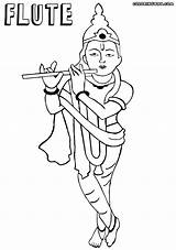 Flute Coloring Pages sketch template