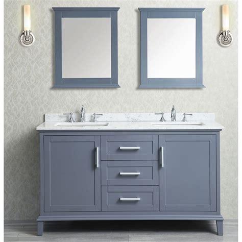 bathroom mirror  ace double sink whale grey