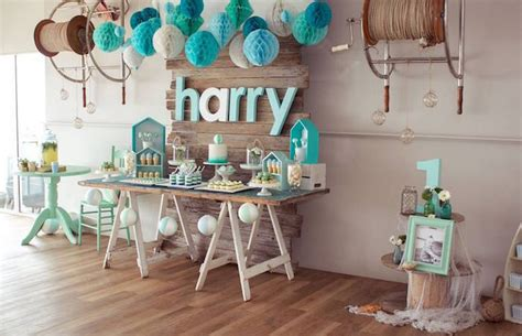 karas party ideas party display   rustic beach ball