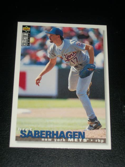 brett saberhagan 1995 deck collectors choice baseball card