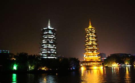 pagodas sol  luna guilin china