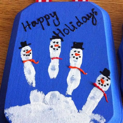 holiday gifts for parents handprint footprint art