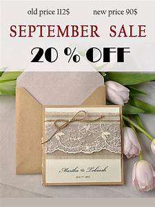 sale rustic wedding invitation lace wedding invites With rustic wedding invitations on sale