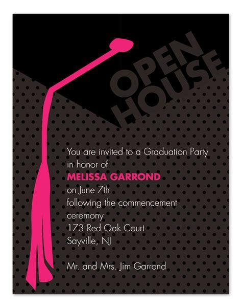 grad open house graduation announcements  invitation