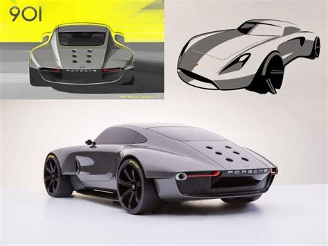 porsche  concept car body design