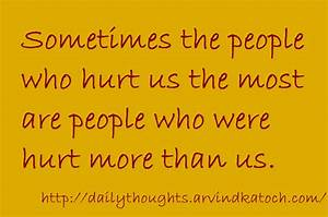Daily Thought (... Hurt Meaning Quotes