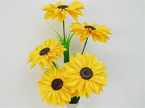 gambar membuat bunga sedotan plastik bekas teratai gambar
