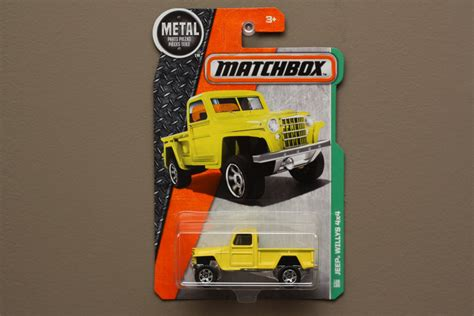 matchbox jeep 2016 matchbox 2016 mbx explorers jeep willys 4x4 yellow