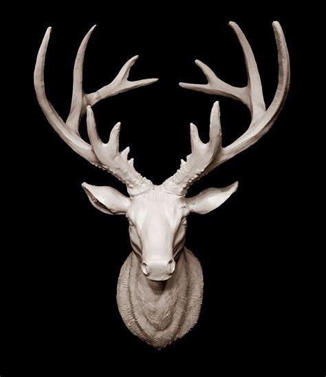 skulptur hirschkopf wanddeko deko geweih hirschgeweih ebay