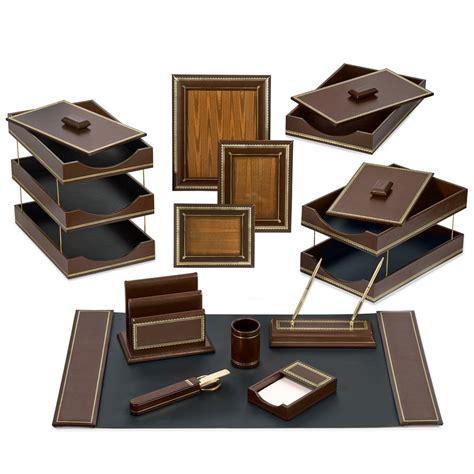 leather desk accessories florentine leather desk set brown desk accessories