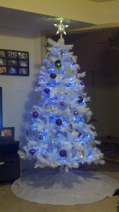 white christmas tree with blue lights true blonde ambition december 2011