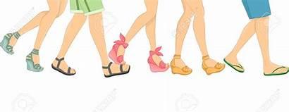 Walking Feet Clipart Sandals Shoes Sandal Explore
