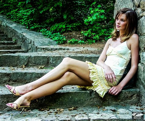 Wallpaper Women Eyes Long Hair Legs Sitting Dress Photographer Fashion Spring Person