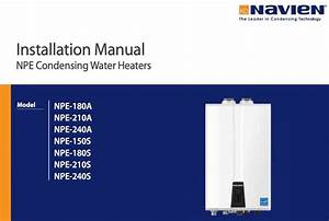 Navien Tankless Water Heater Manuals