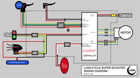 Go Go Scooter Wiring Diagram For by Scooter Wiring Diagram Electricbike Ebike Forum