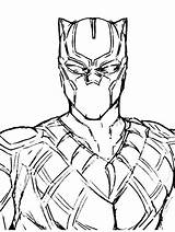 Panther Coloring Drawing Marvel Printable Colouring Cat Avengers Cartoon Drawings Sketches Superhero Gaddynippercrayons Superheroes Artwork Characters Character Comic Challa sketch template