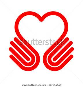 Hand with Heart Symbol Clip Art