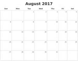 Blank Calendar Pages November 2017