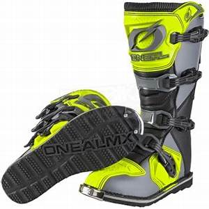2018 ONeal Rider Boots Grey Neon Yellow