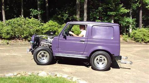 Suzuki Samurai Tires by Suzuki Samurai 327 Ho Start Up Screaming Tires By