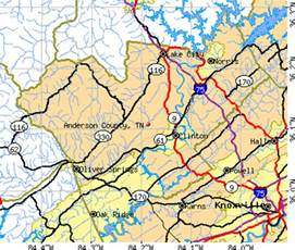 Anderson County TN Map