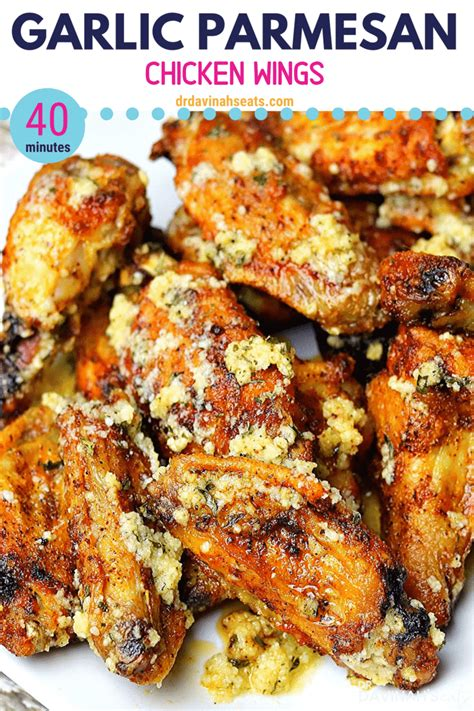 garlic parmesan wings chicken air fryer crispy oven recipe parm recipes drdavinahseats wing davinah eats why dr cooking