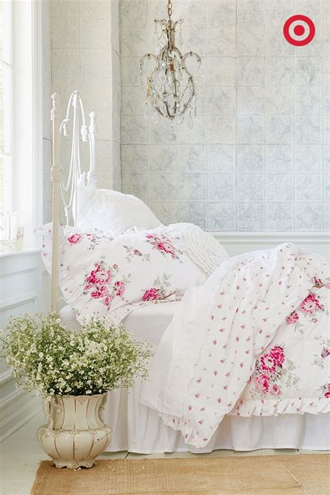 simply shabby chic sheets classic elegance comes in the form of this rose print simply shabby chic bedding set the mix of