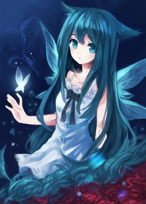 Anime Girl With Butterfly Anime Pinterest