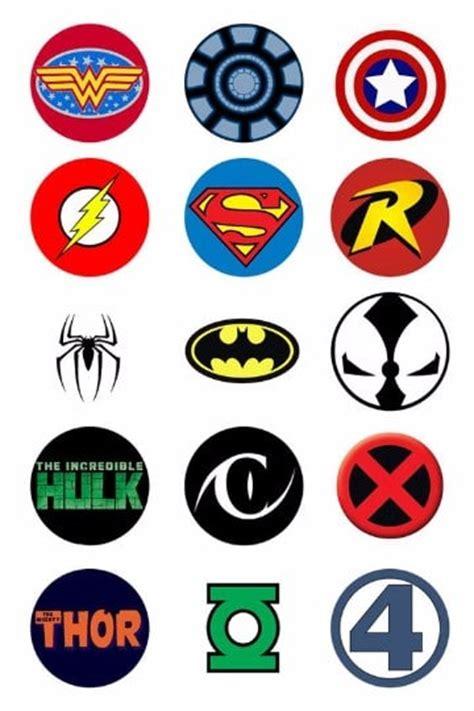 logos y escudos de superheroes dc y marvel famosos