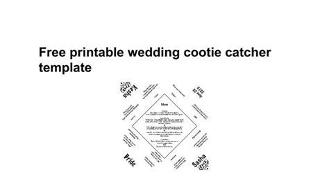 printable wedding cootie catcher template google docs