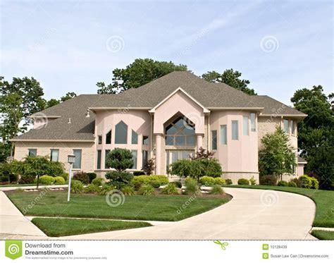 luxury suburban home royalty  stock images image