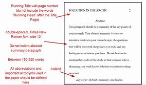 apa formatting rules for your paper With apa abstract page template