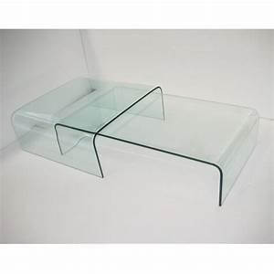 Table Basse Gigogne : table basse avec pont en verre tec ~ Zukunftsfamilie.com Idées de Décoration