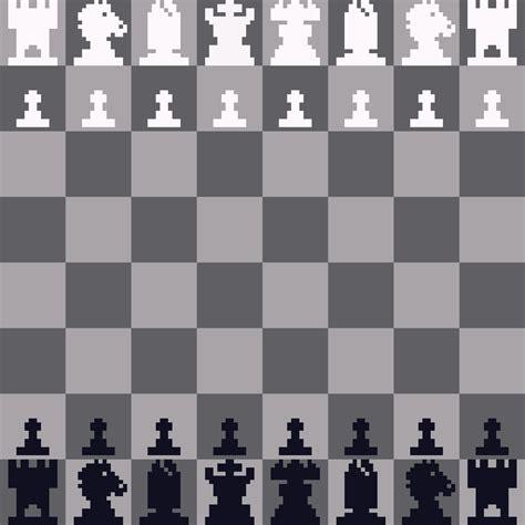 pixel art chess set communicating function  design
