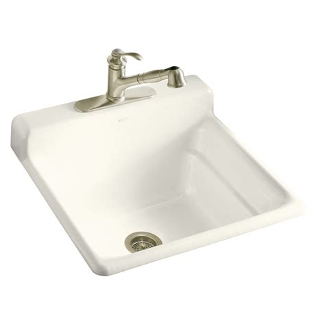 lowes cast iron sink shop kohler biscuit cast iron laundry sink at lowes com