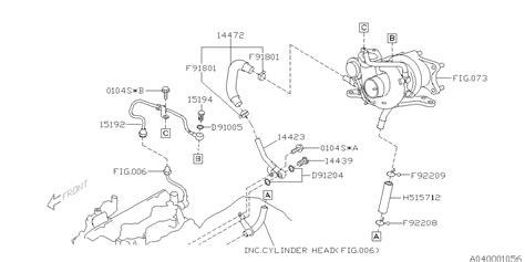 Subaru 2 5xt Engine Diagram by 14423aa110 Genuine Subaru Pipe Complete Turbocharger