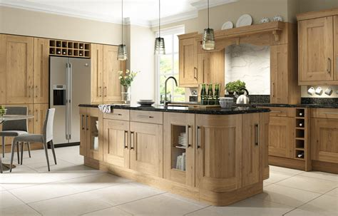 Rustic Oak Shaker Kitchen Collection  Natural Or Painted