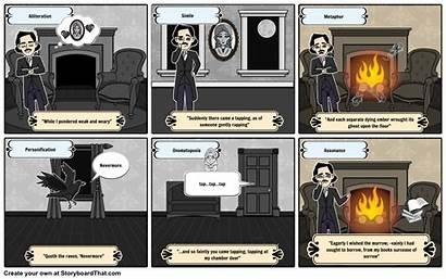 Raven Literary Elements Storyboard Poe Edgar Allan